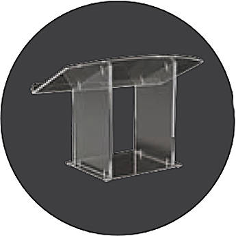 AmpliVox Sound Systems Clear Acrylic Tabletop Lectern
