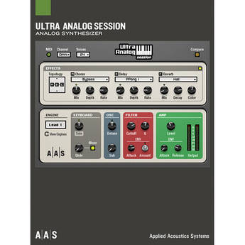 Applied Acoustics Systems Ultra Analog Session - Analog Synthesizer Simulator Plug-In