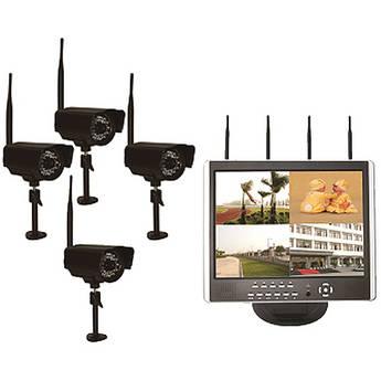Astrotel DVR-LCD4 Digital Wireless DVR / Camera / Monitor System (500GB)