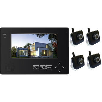 "Astrotel 4-Channel H.264 Digital Wireless DVR System with 7"" LCD and 4 Color CMOS Cameras (2.4 GHz)"