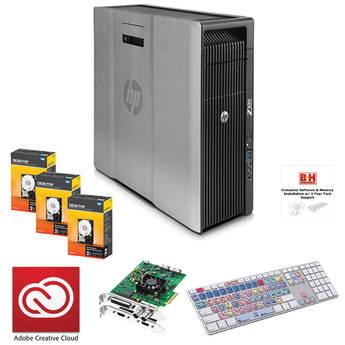 B&H Photo PC Pro Workstation with Adobe Creative Cloud Subscription & Blackmagic Decklink Studio 4K