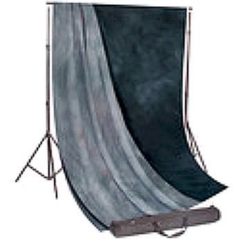 Backdrop Alley Studio Kit with Muslin Backdrop (10 x 12', Aqua Night / Blue Meadow)
