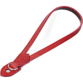 Black Label Bag Leather Wrist Strap (Red)