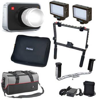 Blackmagic Design Blackmagic Cinema Camera EF Mount Kit with Handgrips & LED Lights