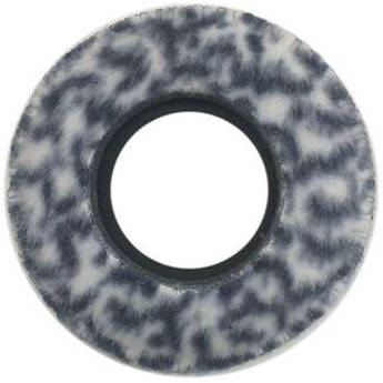 Bluestar Round Ultra Small Viewfinder Eyecushion (Fleece, Snow Leopard)