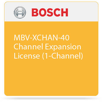 Bosch MBV-XCHAN-40 Channel Expansion License (1-Channel)