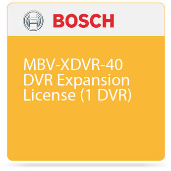 Bosch MBV-XDVR-40 DVR Expansion License (1 DVR)