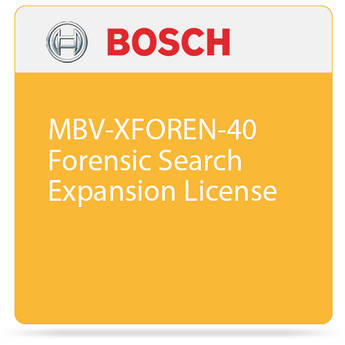 Bosch MBV-XFOREN-40 Forensic Search Expansion License