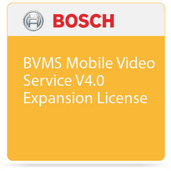 Bosch BVMS Mobile Video Service V4.0 Expansion License
