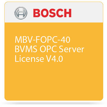 Bosch MBV-FOPC-40 BVMS OPC Server License V4.0