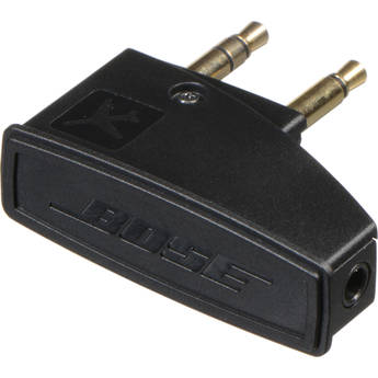 """Bose Single 1/8"""" Stereo Female to Single/Dual 1/8"""" Mono Male Airline Adapter for Select Headphones"""