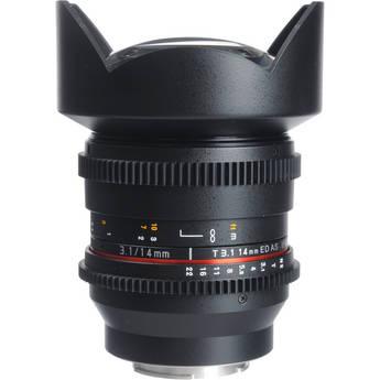 Bower 14mm T3.1 Super Wide-Angle Cine Lens For Samsung NX Mount Cameras