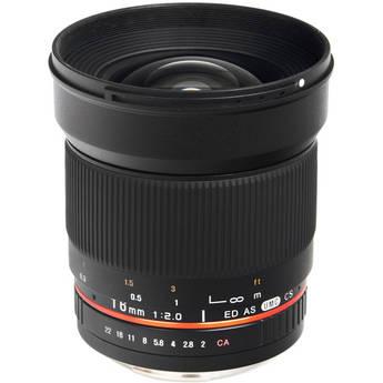 Bower 16mm f/2.0 ED AS UMC CS Lens for Canon EF-S Mount