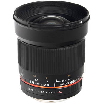 Bower 16mm f/2.0 ED AS UMC CS Lens for Pentax K Mount