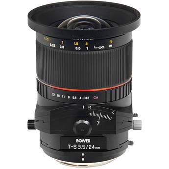 Bower 24mm f/3.5 ED AS UMC Tilt-Shift Lens (Canon EF Mount)