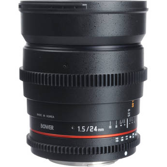 Bower 24mm T1.5 Ultra-Fast Wide-Angle Cine Lens For Sony Mount Cameras