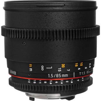 Bower 85mm T1.5 Cine Lens for Nikon F