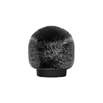 Bubblebee Industries Windkiller Short Fur Slip-On Wind Protector for 23 to 26mm Mics (Extra-Small, Black)