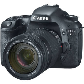 Canon EOS 7D Digital SLR Camera with EF-S 18-135mm f/3.5-5.6 IS Lens Kit