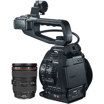 Canon EOS C100 Cinema EOS Camera with 24-105mm f/4L Lens
