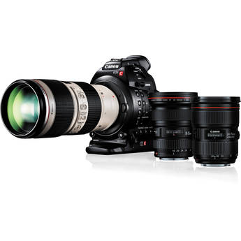 Canon EOS C100 Cinema EOS Camera with Dual Pixel CMOS AF and Triple Lens Kit