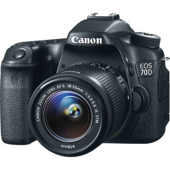 Canon EOS 70D DSLR Camera with 18-55mm STM f/3.5-5.6 Lens