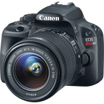 Canon EOS Rebel SL1 DSLR Camera with EF-S 18-55mm f/3.5-5.6 IS STM Lens (Black)