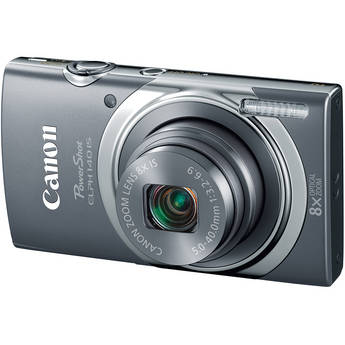 Canon PowerShot ELPH 140 IS Digital Camera (Gray)