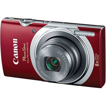 Canon PowerShot ELPH 140 IS Digital Camera (Red)