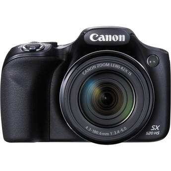 Canon PowerShot SX520 HS Digital Camera (Black)