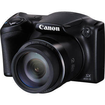 Canon PowerShot SX400 IS Digital Camera (Black)