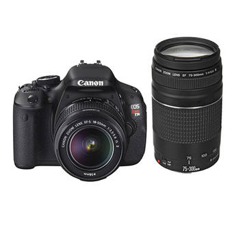 Canon EOS Rebel T3i DSLR Camera with 18-55mm and 75-300mm Lens Kit