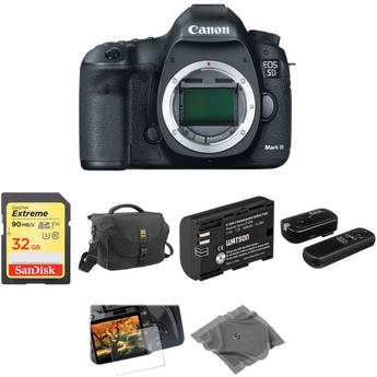 Canon EOS 5D Mark III DSLR Camera (Body Only) Basic Accessory Kit