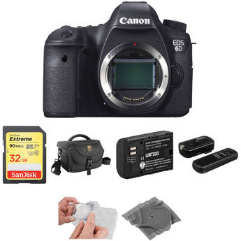 Canon EOS 6D DSLR Camera Body Basic Kit