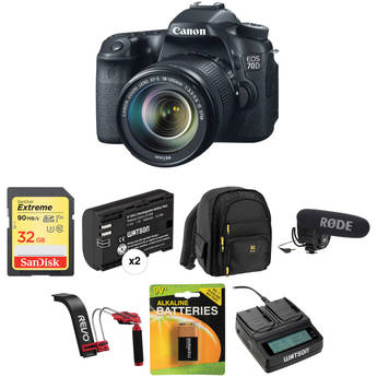 Canon EOS 70D DSLR Camera with 18-135mm f/3.5-5.6 IS STM Lens Video Kit