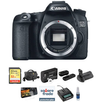 Canon EOS 70D DSLR Camera Deluxe Kit