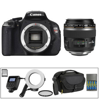 Canon EOS Rebel T3i DSLR with 60mm Macro