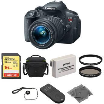 Canon EOS Rebel T5i DSLR Camera with EF-S 18-55mm f/3.5-5.6 IS STM Lens Basic Kit