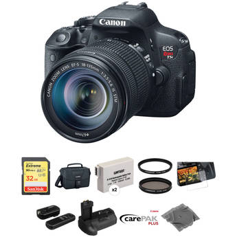 Canon EOS Rebel T5i DSLR Camera with EF-S 18-135mm f/3.5-5.6 IS STM Lens Deluxe Kit