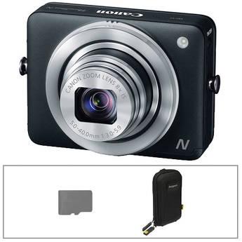 Canon PowerShot N Digital Camera Basic Kit (Black)