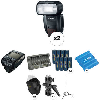 Canon Speedlite 600EX-RT Two Flash Wireless Portrait Kit