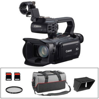 Canon XA25 Professional HD Camcorder Kit with LCD Hood, UV Filter, Dual SD Cards & Bag