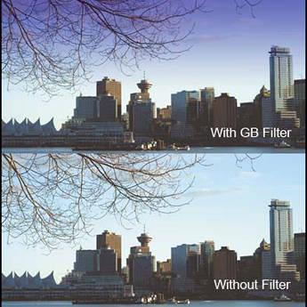 "Cavision 4 x 5.65"" Soft-Edge Graduated Blue 0.9 Filter (3-Stop)"