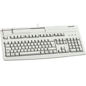 CHERRY G81-8000 Multifunctional USB Keyboard with Built-in Magnetic Card Reader (Light Gray)