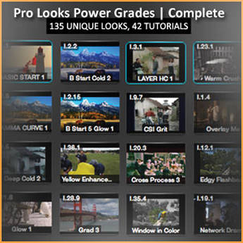 Class on Demand Video Download: 135 ProLooks for DaVinci Resolve for Mac (Complete)