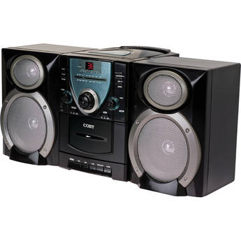 Coby Mini Hi-Fi CD/Cassette Player/Recorder with AM/FM Tuner & Detachable Speakers