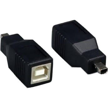 Comprehensive USB Type-B Female to USB Mini-B 4-Pin Male Adapter