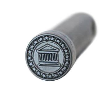 "DATACARD Tactile Impression Die (0.5"", Pillars Design)"