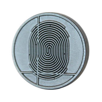 "DATACARD 0.9"" Replacement Tactile Impression Die (Digital Thumbprint Design)"