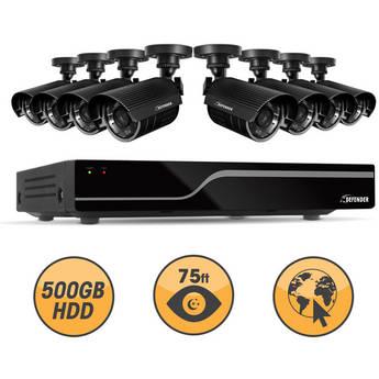 Defender 21048 16-Channel DVR with 8 Hi-Res Outdoor Surveillance Cameras